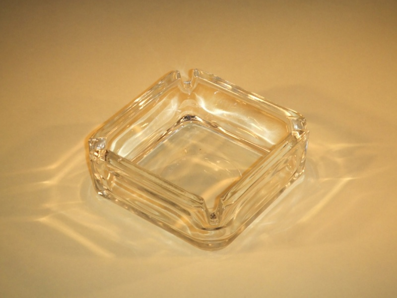 Asbak glas helder vierkant