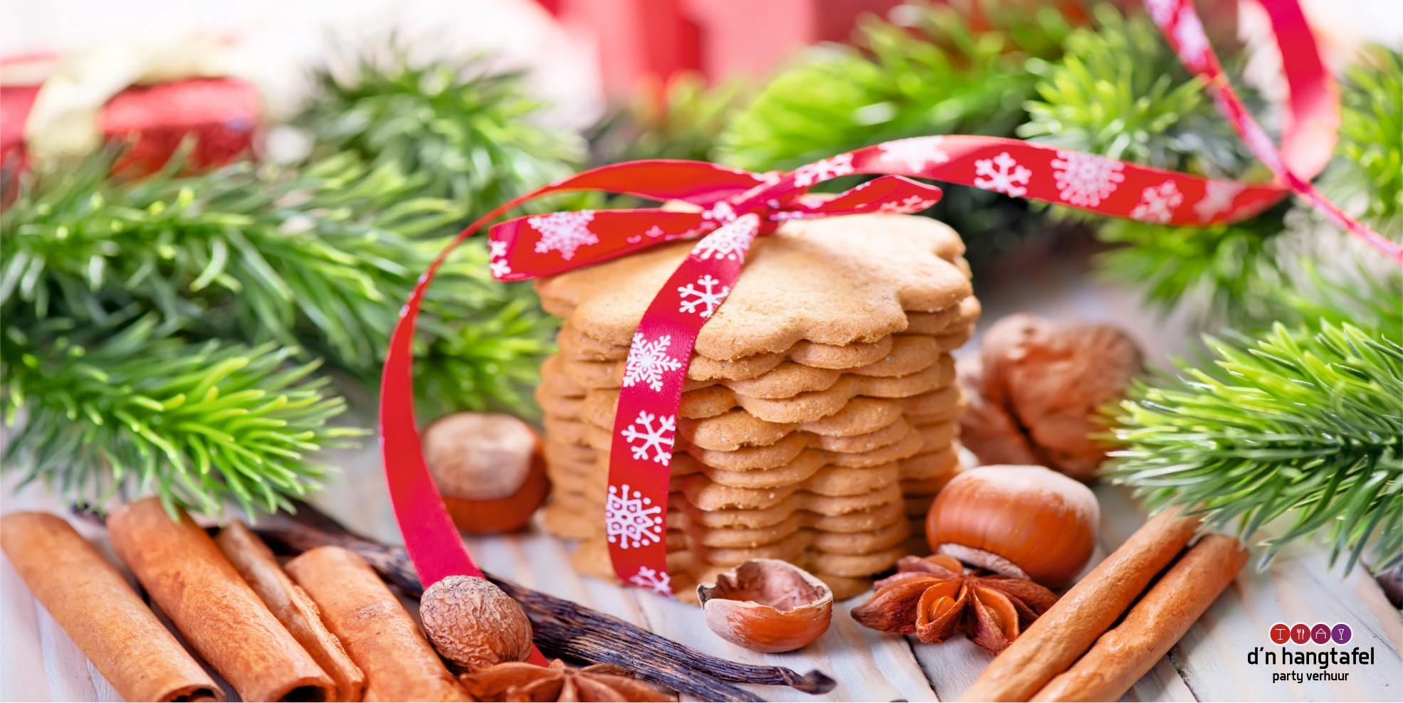 Bouwhek met kerst thema doek (kerstkoekjes)