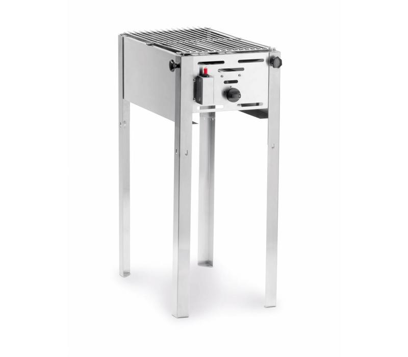Barbecue met rooster gas klein 54 x 34 cm
