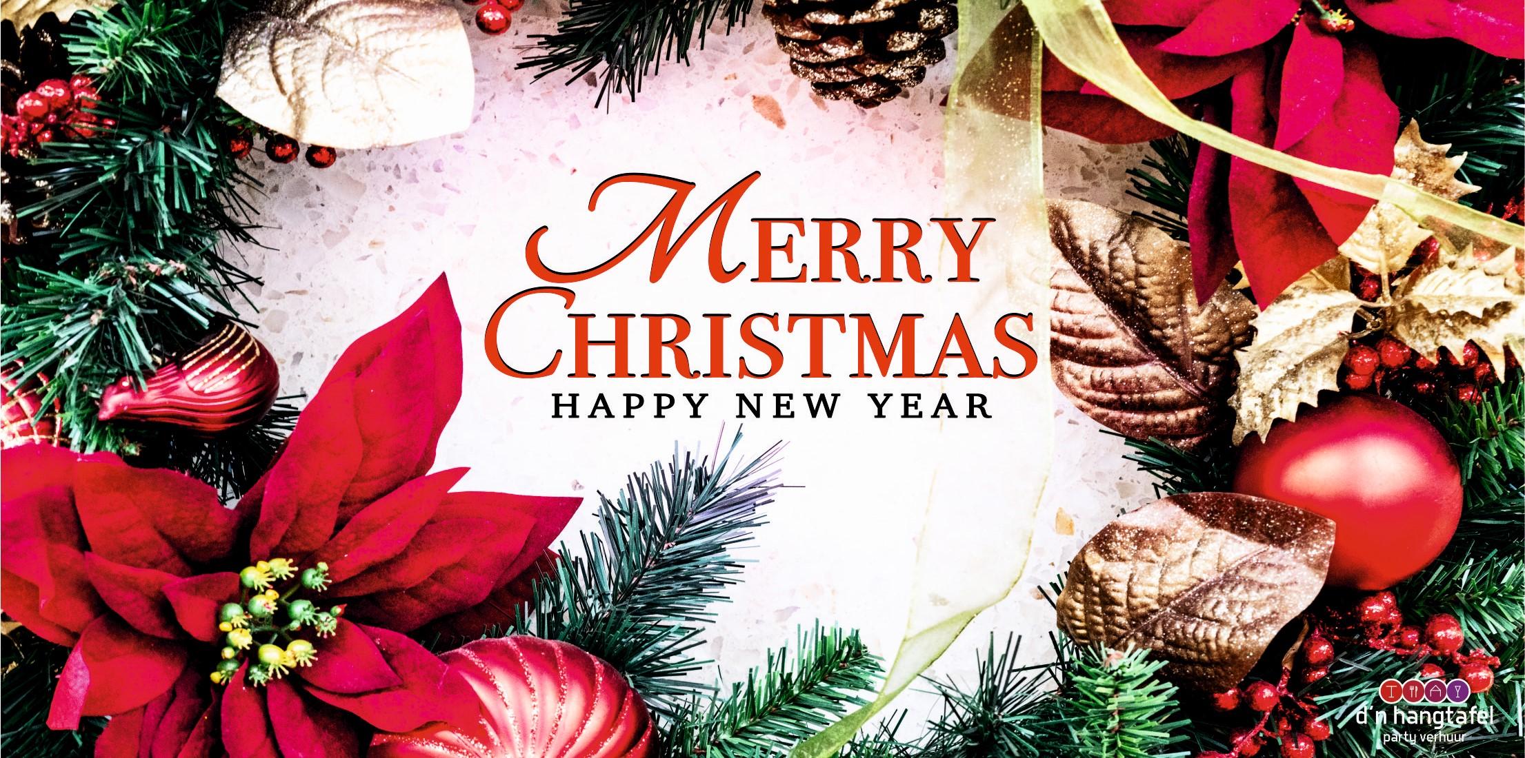 Bouwhek met kerst thema doek (merry christmas)