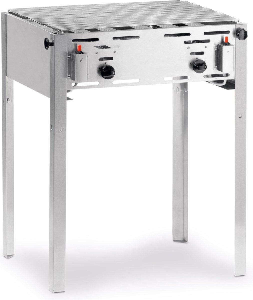 Barbecue met rooster gas middel 54 x 65 cm