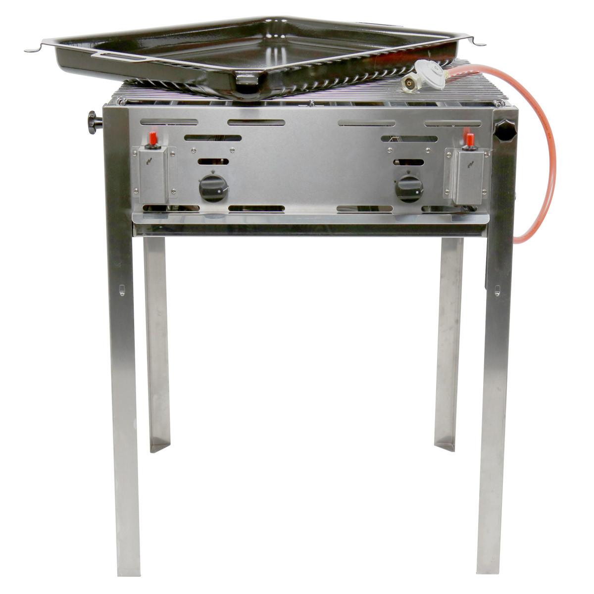 Barbecue met bakplaat gas middel 54 x 65 cm