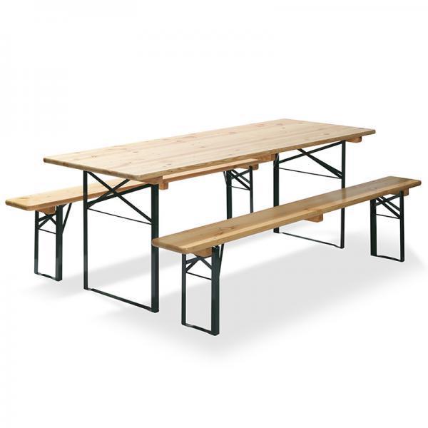 Bankenset incl. tafel (220x50 cm) met 2 banken (220x25 cm)